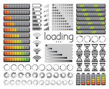 Set Of Loading Bars, Battery C...