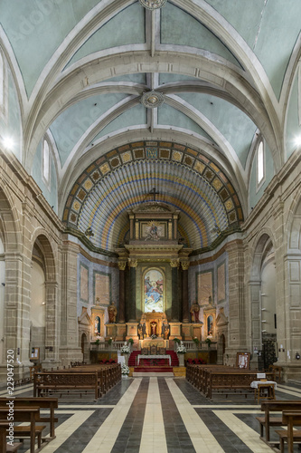 Fotografie, Obraz  interior of the church, main nave, Castellon, Spain