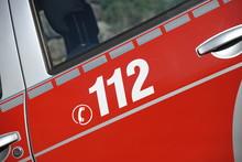 Auto Auto Tür Feuerwehr Mit Beschriftung 112 Rettung