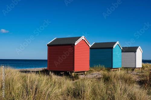 Strandhäuser von Findhorn Fototapeta