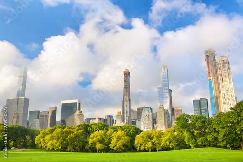 Staande foto New York City Growing skyscrapers around Central Park in Manhattan, New York