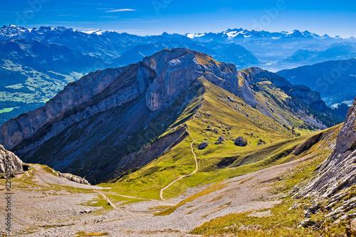Valokuvatapetti Alps mountain peaks on Pilatus view