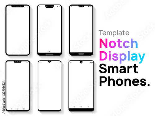Notch Display Smartphones Template Canvas Print