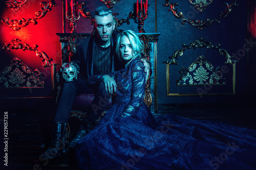 Photo couple of vampires together