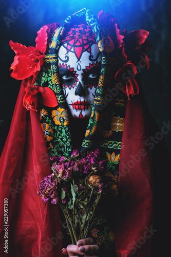 Ingelijste posters Halloween halloween bouquet of flowers