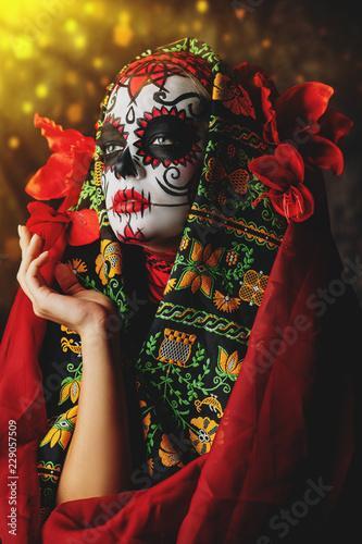 Ingelijste posters Halloween red costume for halloween