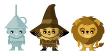 Cute Three Fairytale Characters