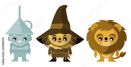 Photo  cute three fairytale characters