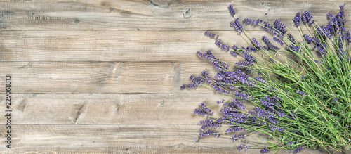 Foto op Canvas Bloemen Lavender flowers rustic wooden background Vintage picture