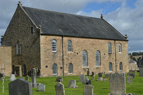 Tela Cupar Old Parish Church, with early 15th century tower and spire of 1620