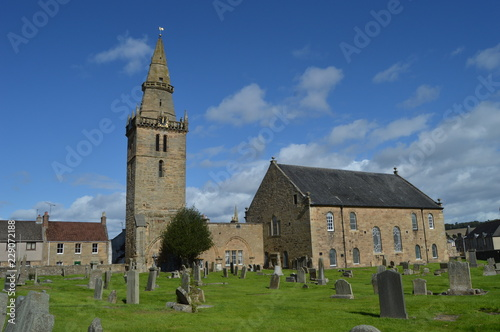 Canvas Print Cupar Old Parish Church, with early 15th century tower and spire of 1620