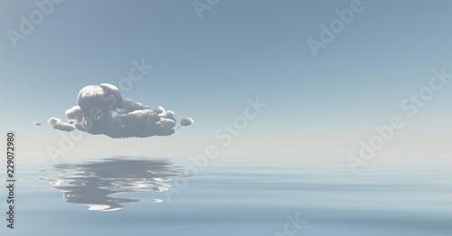 Foto  Cloud reflects in water