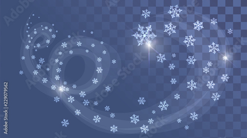 Snow swirl, frosty wind on a transparent background Canvas Print