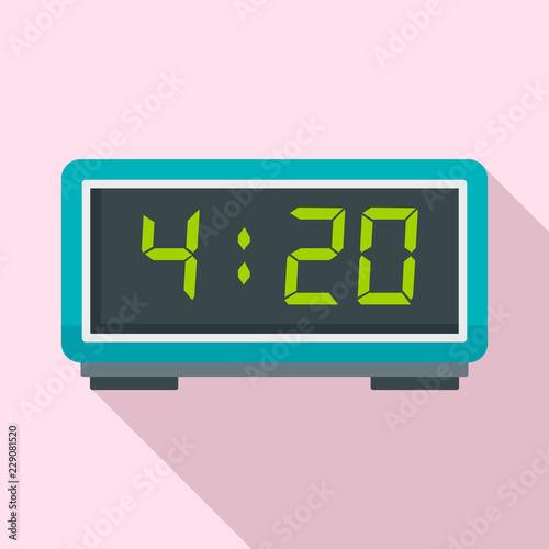 Digital alarm clock icon. Flat illustration of digital alarm clock vector icon for web design Wall mural