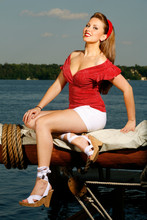 Nautical Pinup Girl 4