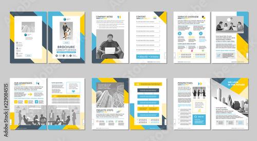 Brochure creative design Canvas Print