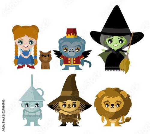 cute fairytale characters Canvas Print
