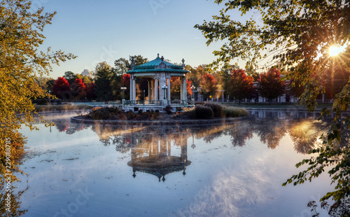 The bandstand located in Forest Park, St. Louis, Missouri. Canvas Print