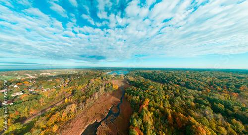 Obraz na plátne Moore Lake Fall Panoramic Majesty!