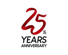 25 Anniversary Logo Vector Red...