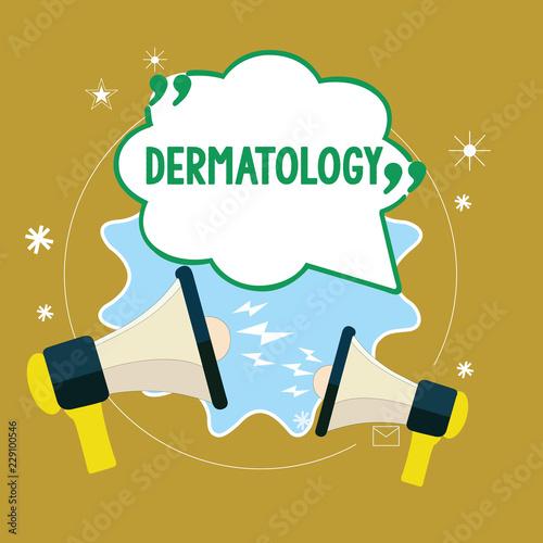 Fényképezés  Text sign showing Dermatology