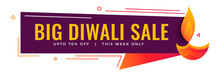 Big Diwali Sale And Promotional Banner Design