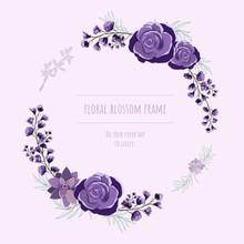 Floral Frame For Invitation Ca...