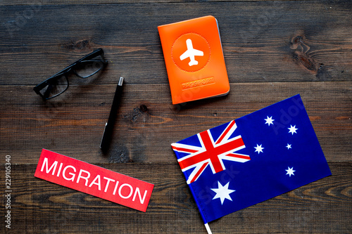 Immigration to Australia concept Canvas-taulu