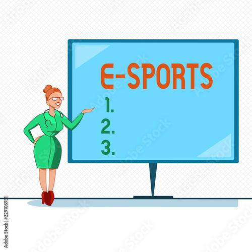 Photo  Writing note showing E Sports