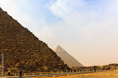 Photo Stands Egypt Pyramids in Gisa