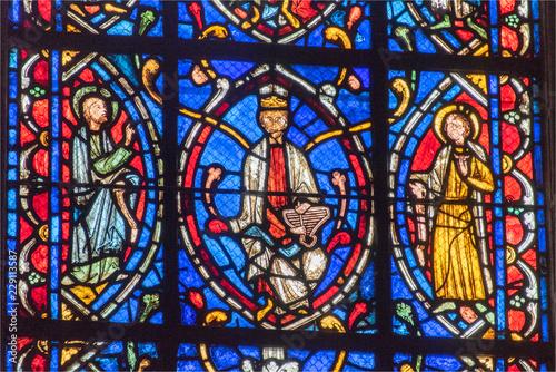 In de dag Stained vitraux de la cathédrale d'Amiens en France