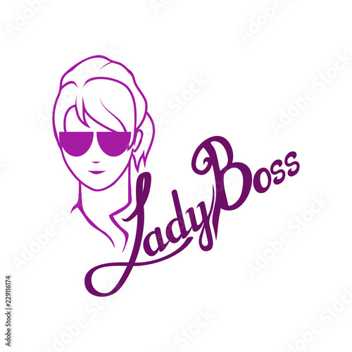 Photo  boss character, chief, boss icon for logotype, flyer, posters, card, label, badg