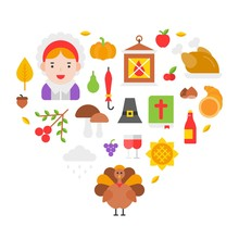 Thanksgiving Icon Arrange As H...