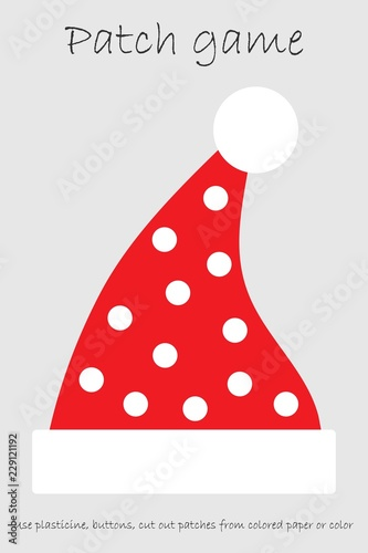 image relating to Santa Hat Printable identified as Schooling Patch recreation santa hat for youngsters in direction of build engine