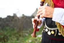Bagpipe Player Detail. With Tr...