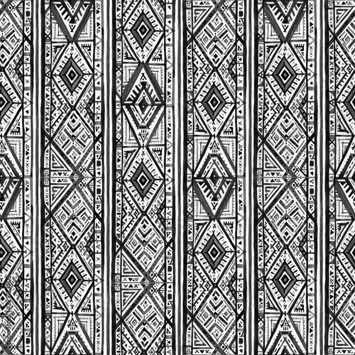 Ikat Seamless Pattern Hand Drawn Pattern Abstract Geometric