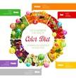 Rainbow color diet vitamins benefits in food