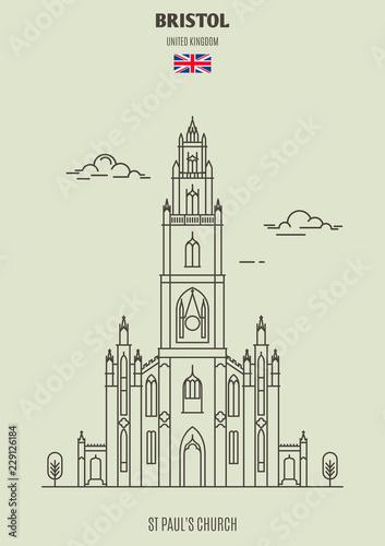 Foto op Plexiglas Antwerpen St Paul's Church in Bristol, UK. Landmark icon