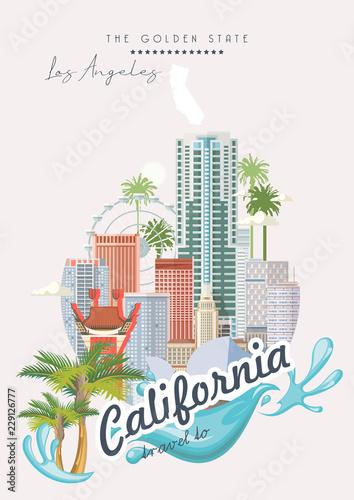 Photo  Los Angeles vector city template