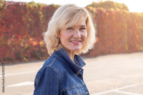 Portrait Of A Mature Woman 50 Years Old Buy This Stock Photo And