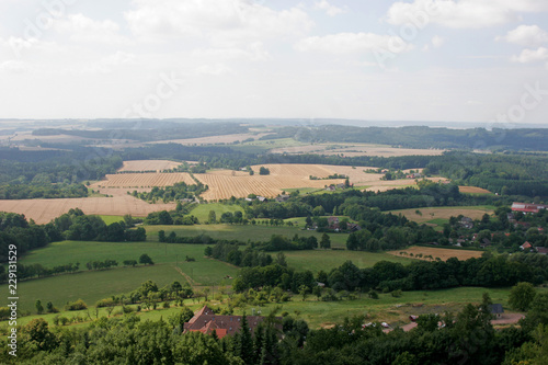 Foto op Canvas Wit panoramic view of rural landscape