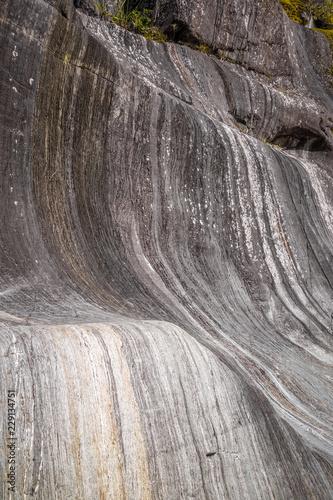 Poster Oceanië Striped rock, Franz Josef Glacier, New Zealand
