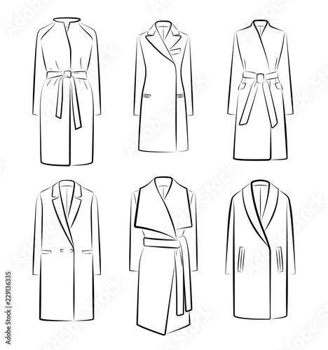 Fotografie, Obraz  Women's winter coats