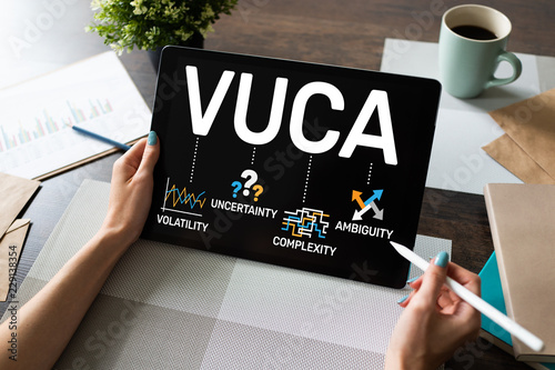 VUCA world concept on screen Canvas Print