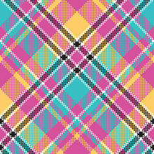 Baby Color Plaid Seamless Pattern