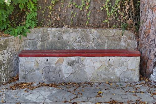 Banc De Pierre Et Bois Buy This Stock Photo And Explore Similar