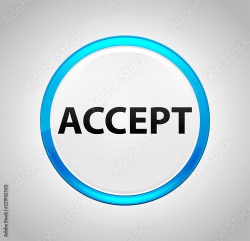 Fotografía  Accept Round Blue Push Button