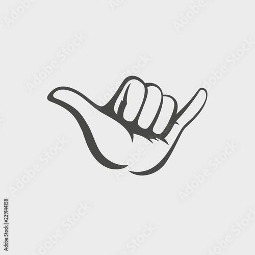 c6dfc6d9f92f Shaka hand vector sign. Hang loose symbol - Buy this stock vector ...