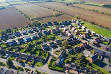 Aerial View Of Homes In A Rura...