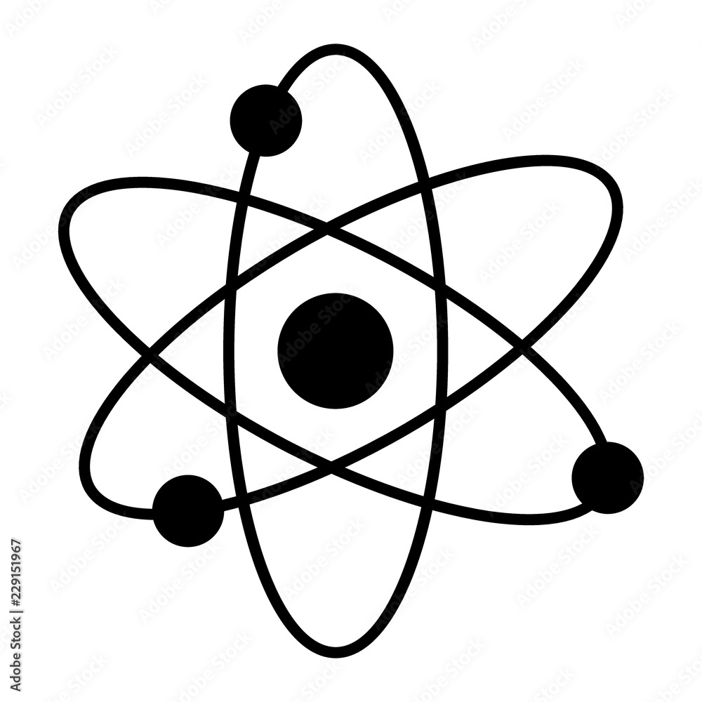 Fototapety, obrazy: Atom solid icon. Nuclear power vector illustration isolated on white. Molecule glyph style design, designed for web and app. Eps 10.